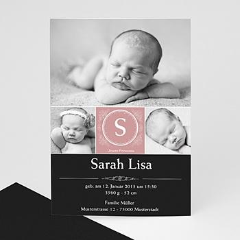 Geburtskarten für Mädchen - Geburtskarte Johanna - 1