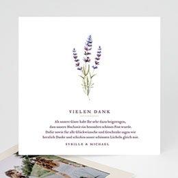 Hochzeitsdanksagungen ohne Foto Lavendel
