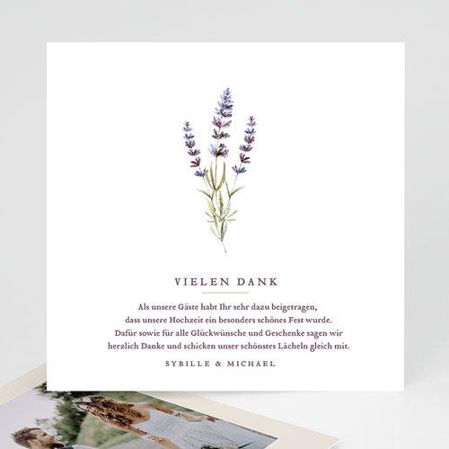 Hochzeitsdanksagungen ohne Foto - Lavendel 69505 thumb