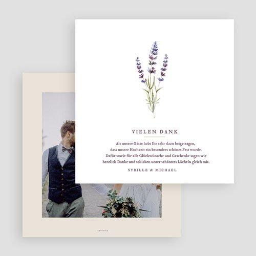 Hochzeitsdanksagungen ohne Foto - Lavendel 69507 thumb