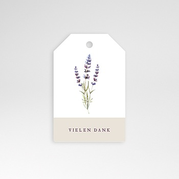 Anhänger Hochzeit - Lavendel - 0
