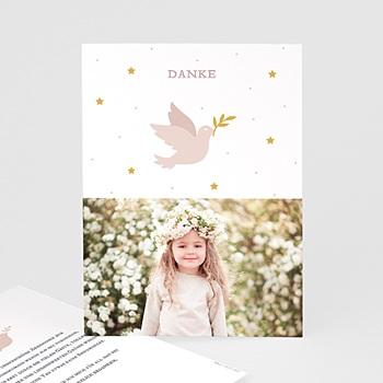 Dankeskarten Kommunion Mädchen Holy Spirit Rose