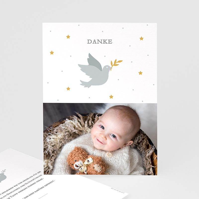 Dankeskarten Taufe Jungen Kleine Taube