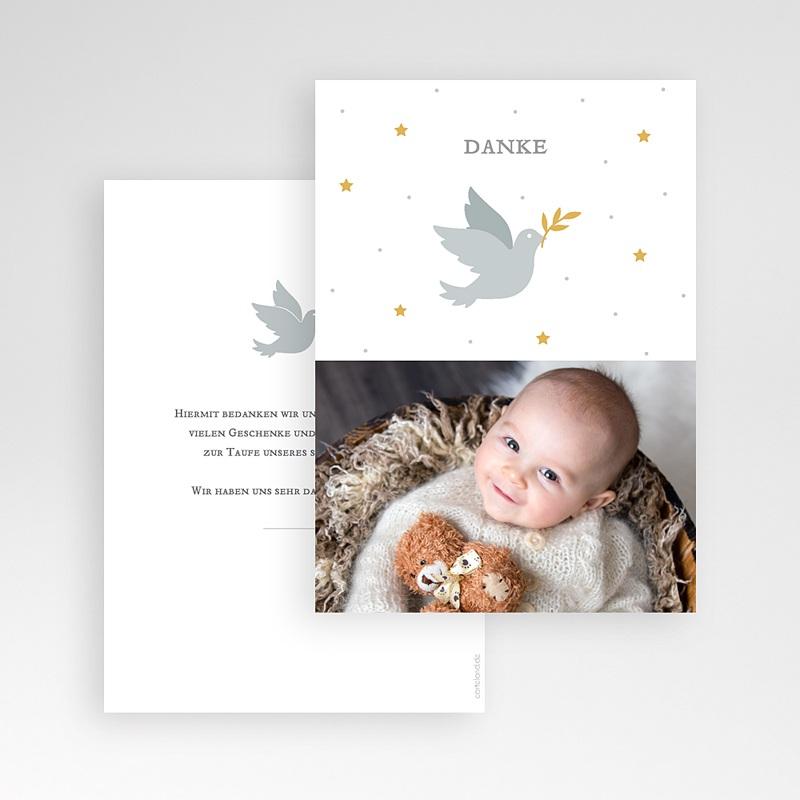 Dankeskarten Taufe Jungen Kleine Taube pas cher