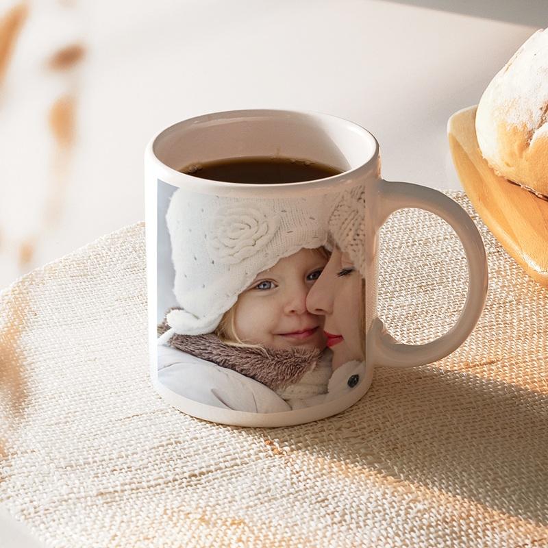 Personalisierte Fototassen Muttertag Wohlbehagen