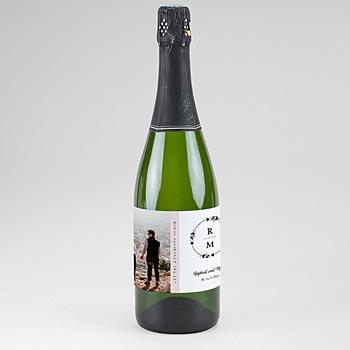 Flaschenetiketten Sekt - Boho Krone - 0