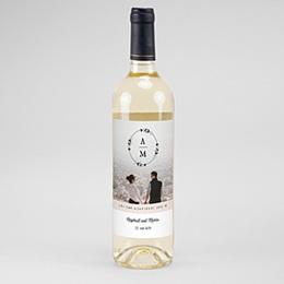Flaschenetiketten Wein Boho Kranz