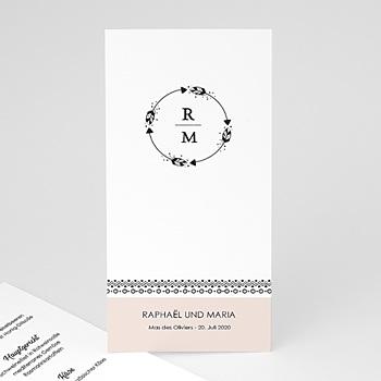 Menükarten Hochzeit - Boho Krone - 0