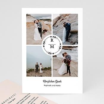 Dankeskarten Hochzeit mit Foto - Boho Krone - 0