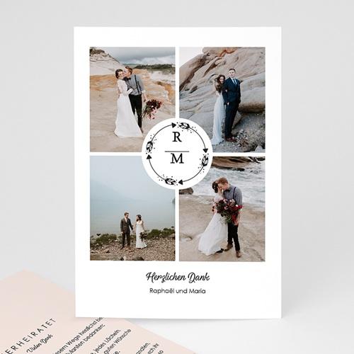 Dankeskarten Hochzeit mit Foto - Boho Krone 69736 thumb