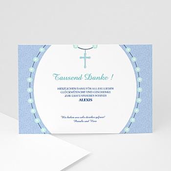 Dankeskarten Taufe Jungen Kreuz 1