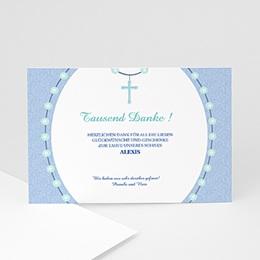 Danksagungskarten Taufe Kreuz 1