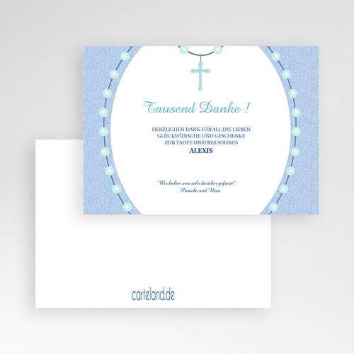 Dankeskarten Taufe Jungen - Kreuz 1 6978 test