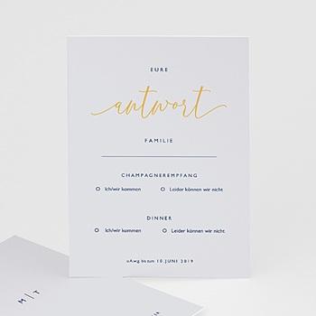Antwortkarten Hochzeit  - Nude Grey - 0