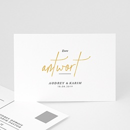 Antwortkarten Hochzeit  Love Letters