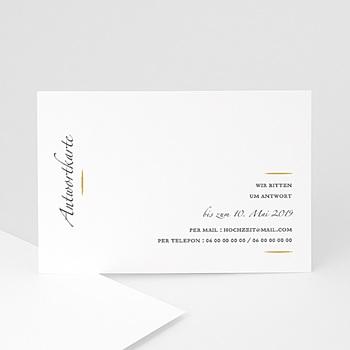 Antwortkarten Hochzeit  - Minimal Script - 0