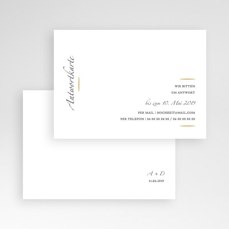 Antwortkarten Hochzeit Minimal Script pas cher