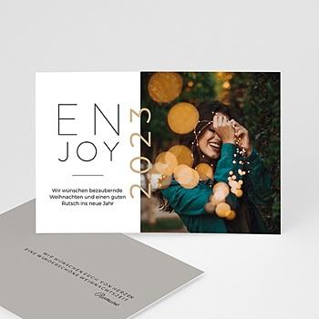 Weihnachtskarten - Enjoy - 0