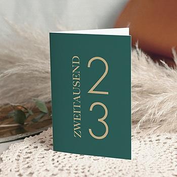 Weihnachtskarten - Tannengrün Klappkarte - 0