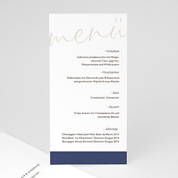 Menükarten Hochzeit - Blue Color Touch - 0