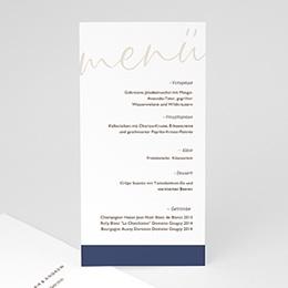 Menükarten Hochzeit Blue Color Touch