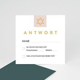 Antwortkarten Bar Mitzwa Davidstern Antwort