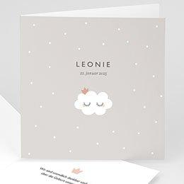 Geburtskarten für Mädchen Sanfte Wolke