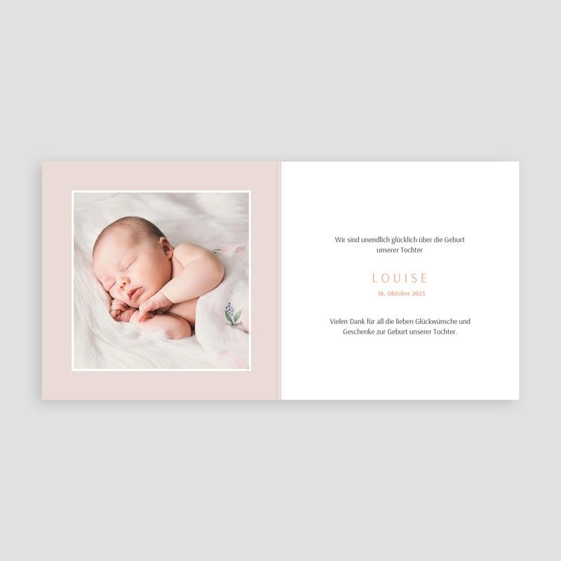 Geburtskarten mit Kaninchen Bunny Girl pas cher