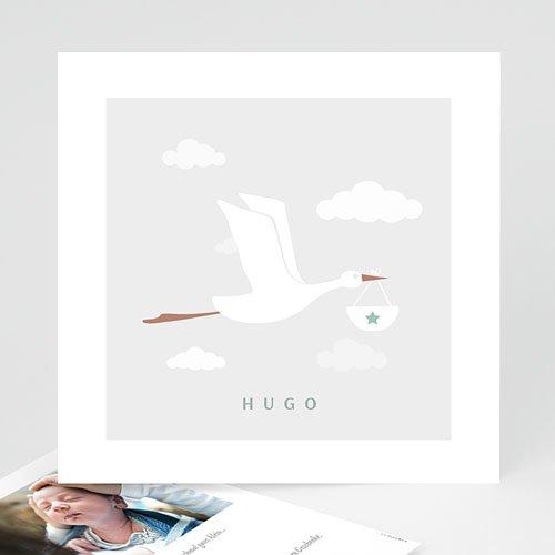 Geburtskarten mit Storch Storch Junge