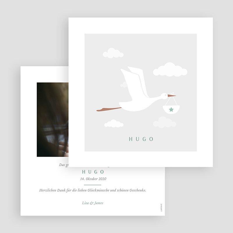 Geburtskarten mit Storch Storch Junge gratuit