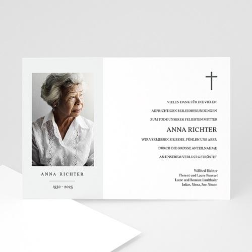Danksagungskarten Trauer - Foto Souvenir 70204 thumb