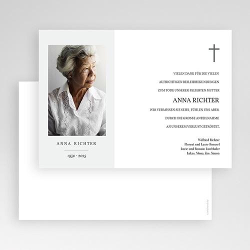 Danksagungskarten Trauer - Foto Souvenir 70206 thumb