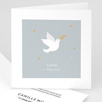 Danksagungskarten Trauer - Symbol Taube - 0