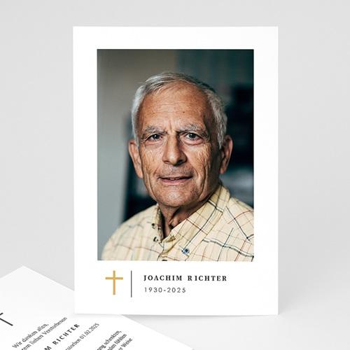Danksagungskarten Trauer - Schlichtes Kreuz 70258 thumb