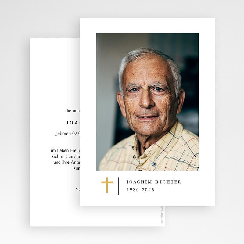 Danksagungskarten Trauer - Schlichtes Kreuz 70260 thumb