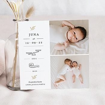 Geburtskarten für Mädchen - Goldzweig - 0