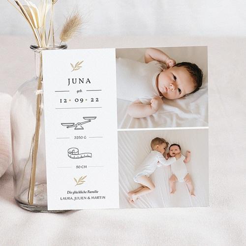 Geburtskarten für Mädchen Goldzweig