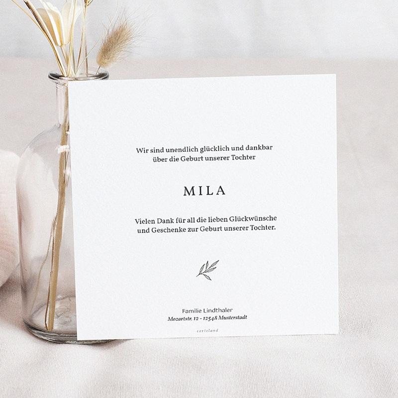 Geburtskarten für Mädchen Goldzweig pas cher