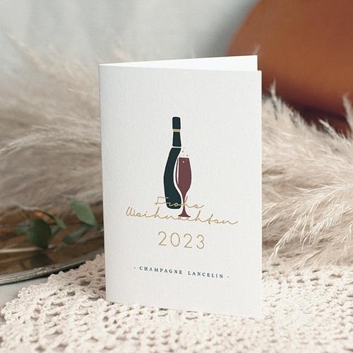 Geschäftliche Weihnachtskarten Champagner