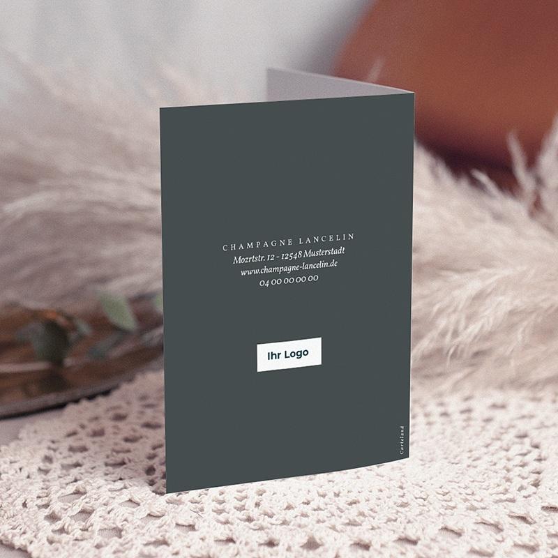 Geschäftliche Weihnachtskarten Champagner gratuit