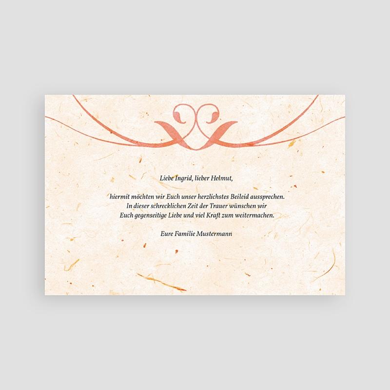 Weltlich Dankeskarten Trauer Mamor  pas cher