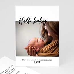 Foto-Babykarten gestalten Handschrift