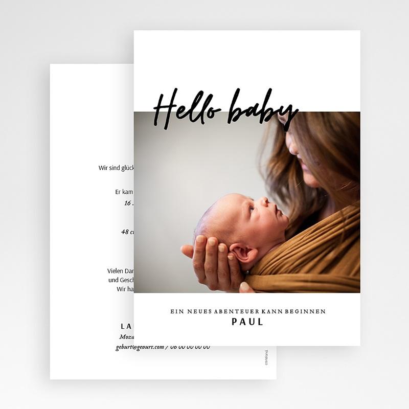 Geburtskarten mit Fotos Handschrift gratuit