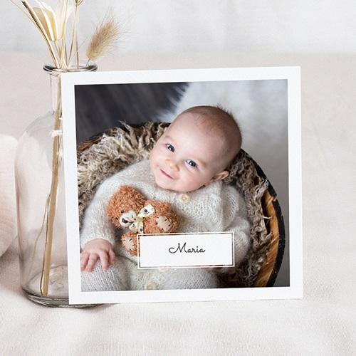 Geburtskarten mit Fotos Hier ist