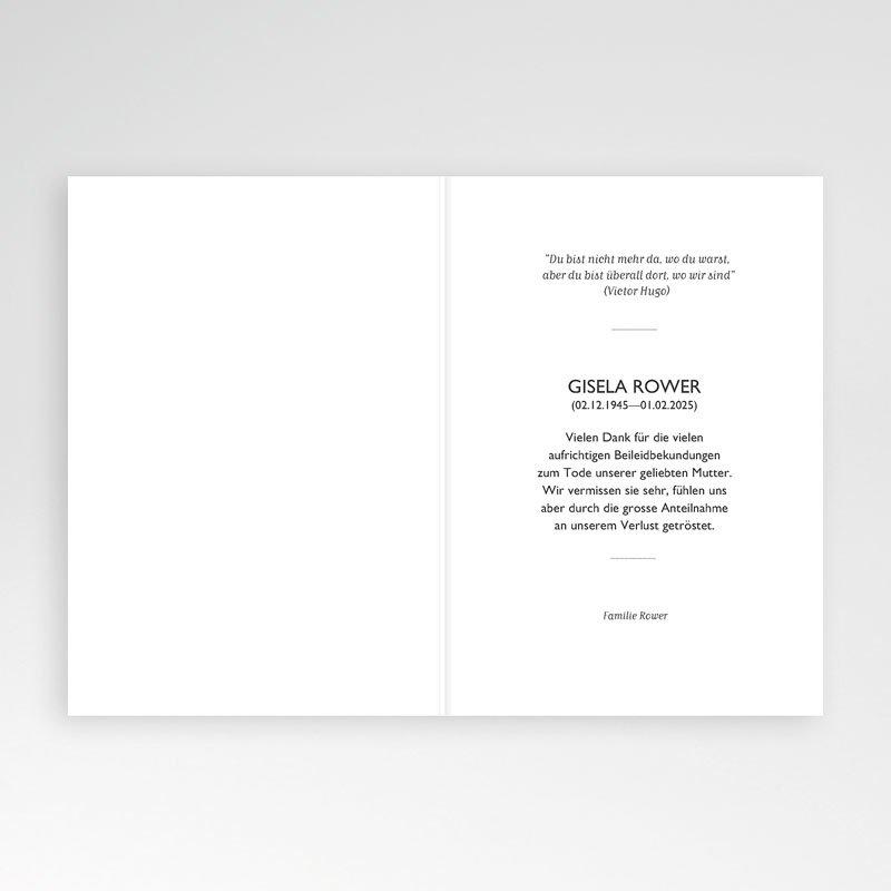 Danksagungskarten Trauer - Friedlich 70486 thumb