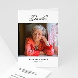 Karten Décès Abschied