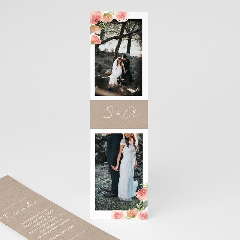 Dankeskarten Hochzeit Kraftpapier - Rustic Chic 70527 thumb