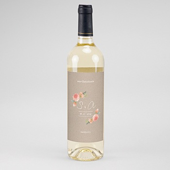 Flaschenetiketten Wein Rustic Chic