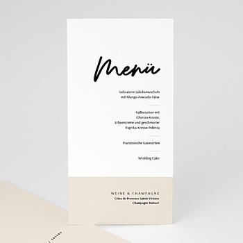 Menükarten Hochzeit - Mastic Majestic - 0
