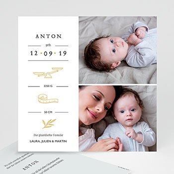 Geburtskarten für Jungen - Neues Leben - 0